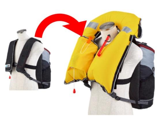 d936a58cd734 それに加えて、水を感知すると「自動的に」ライフジャケットが出てくる機能がついています。今までにない救命道具です。固型式タイプの安価版(28,000円)と子供用も  ...